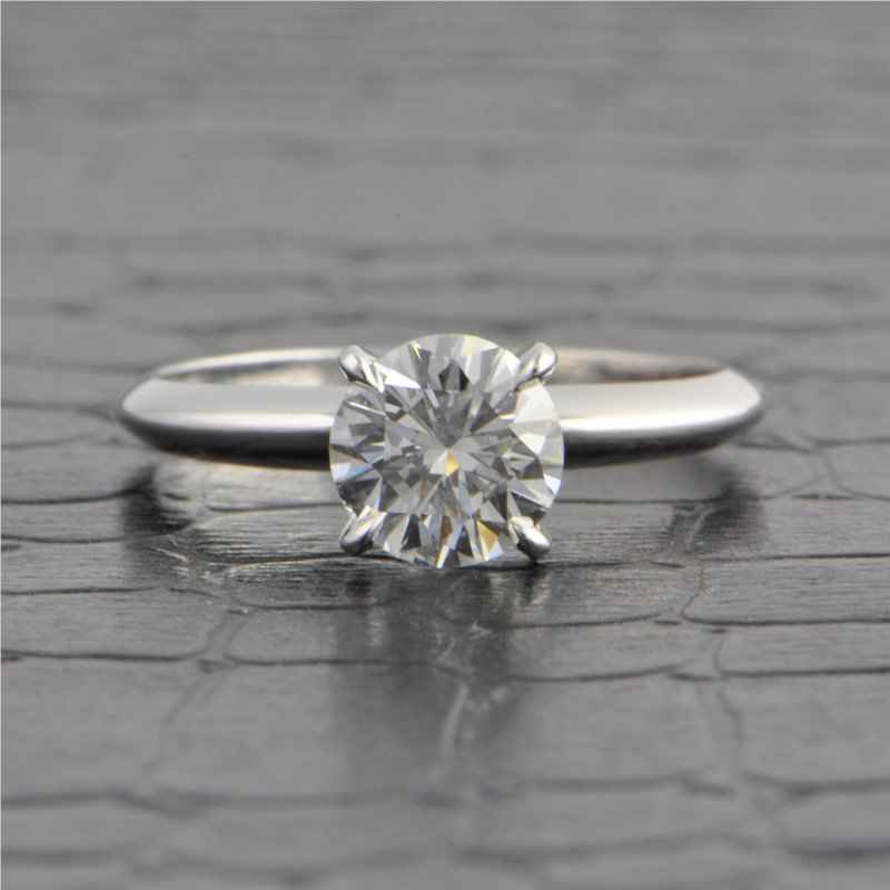 Perry's Estate Collection GIA 1.02 Carat G-SI1 Round Brilliant Cut Diamond Engagement Ring in White Gold