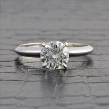 GIA 1.02 Carat G-SI1 Round Brilliant Cut Diamond Engagement Ring in White Gold