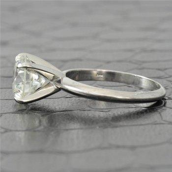 GIA 2.54 Carat J-SI2 Round Brilliant Cut Diamond Engagement Ring