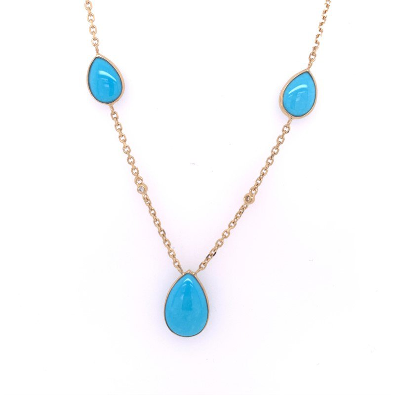 Effy Turquoise Necklace in Yellow Gold