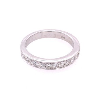 0.50 CTW Diamond Ring in White Gold