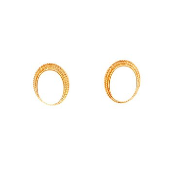 Coral Earrings in Yellow Gold