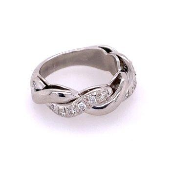 Platinum Diamond Twist Wedding Band