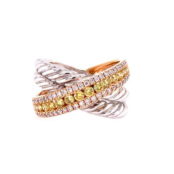 Diamond Ring in Two-Tone Gold