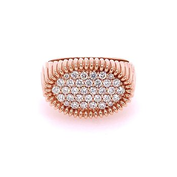 Rose Gold and Diamond Statement Ring