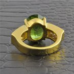 Perry's Estate Collection Peridot and Diamond Ring in Yellow Gold