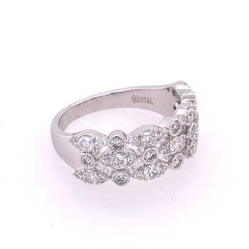 Openwork Diamond Band in White Gold