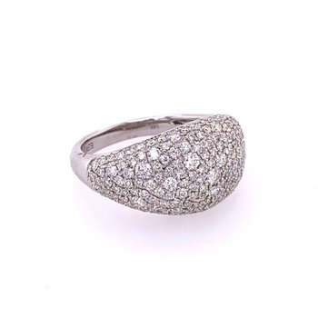 Cluster Diamond Band Ring in White Gold