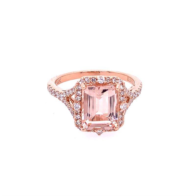 Effy Morganite and Diamond Ring in Rose Gold