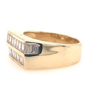 2.0 Carat Emerald Cut Multi-Diamond Ring in Yellow Gold