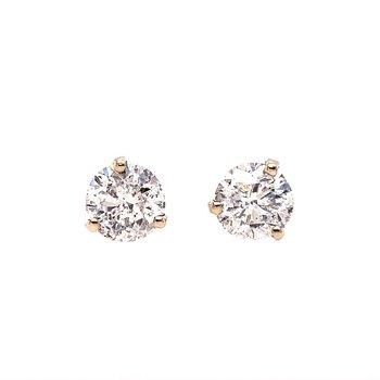 3.01 CTW. Diamond Stud Earrings in White Gold