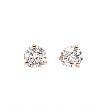 3.01 CTW. Diamond Stud Earrings in White Gold
