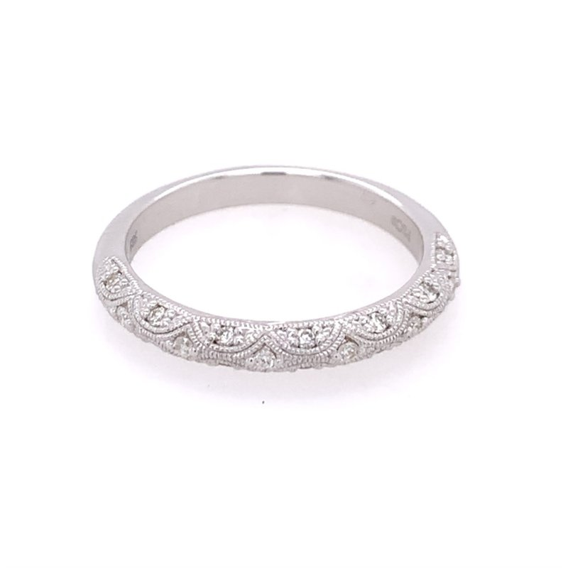 Peter Storm Beaded Diamond Wedding Band in White Gold