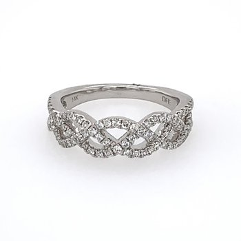 Openwork Crisscross Diamond Band