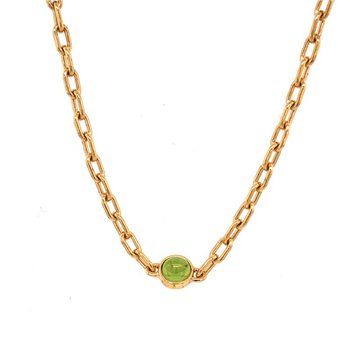 Peridot Necklace in 18k Gold