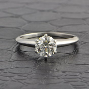 1.21 Carat I-VS2 Round Brilliant Cut Diamond Engagement Ring by Tiffany & Co.