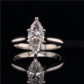 1.15 Carat I-VVS1 Marquise Cut Diamond Engagement Ring in White Gold