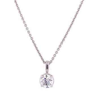 .89 ct. Diamond Solitaire Necklace in White Gold