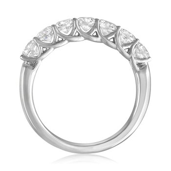 Platinum 1.0 CTW Seven Diamond Wedding Band