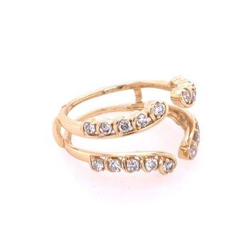 Diamond Ring Guard in Yellow Gold