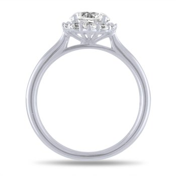 14k White Gold Diamond Semi Mount for Marquise Diamond