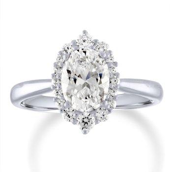 14k White Gold Diamond Semi Mount for Marquise Diamond