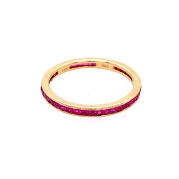 Ruby Eternity Band in Yellow Gold