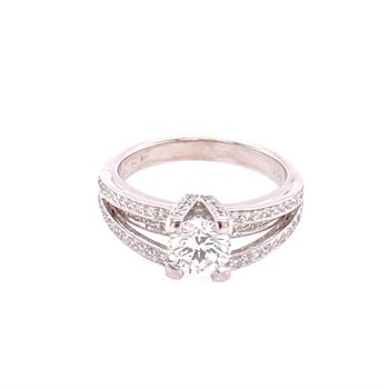 Simon G. Diamond Engagement Ring in White Gold