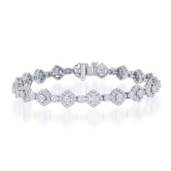5.03 CTW Diamond Bracelet in White Gold