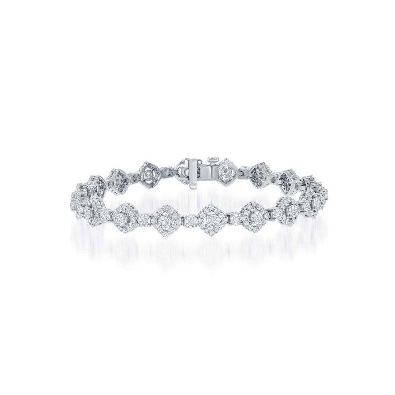 Jewels By Jacob 5.03 CTW Diamond Bracelet in White Gold