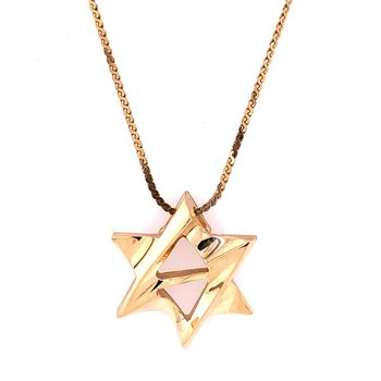 Star of David Pendant in Yellow Gold