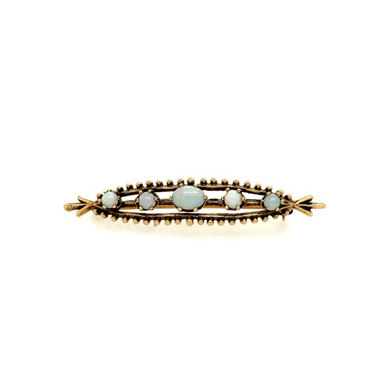 Perry's Estate Collection Vintage Opal Brooch/Pin in Yellow Gold