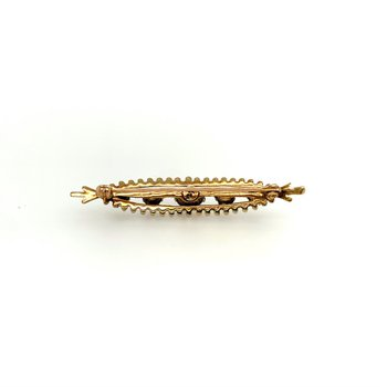 Vintage Opal Brooch/Pin in Yellow Gold
