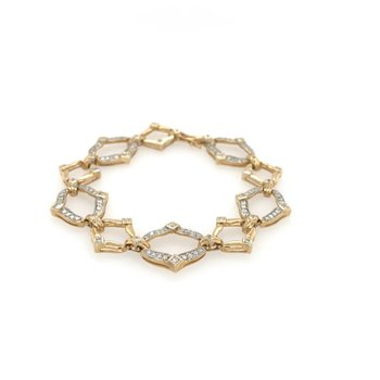 Marquise Shaped Link Bracelet