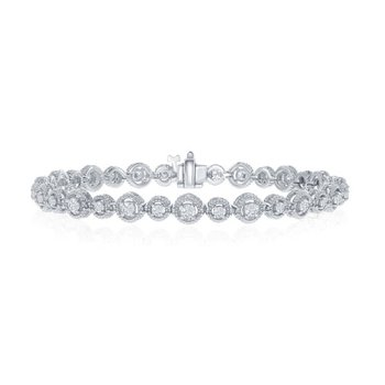 2.04 CTW Diamond Bracelet in White Gold