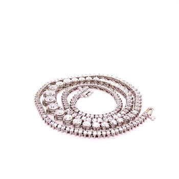 8.0 CTW Diamond Riviera Necklace in White Gold
