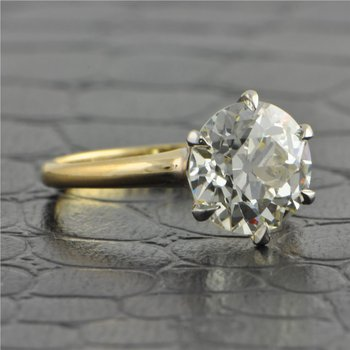 GIA 3.05 ct. Old European Cut Diamond Solitaire Engagement Ring