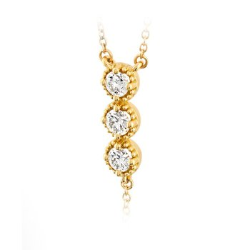 MILGRAIN DIAMOND LARIAT NECKLACE