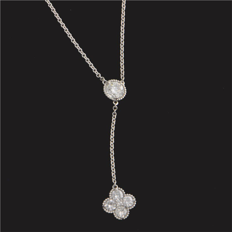 """Perry's Estate Collection """"Y"""" Style Necklace with Diamond Clover Drop"""