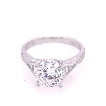 Diamond Semi Mount in White Gold