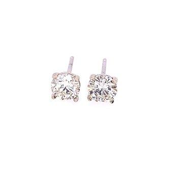 .93 CTW Diamond Stud Earrings in White Gold
