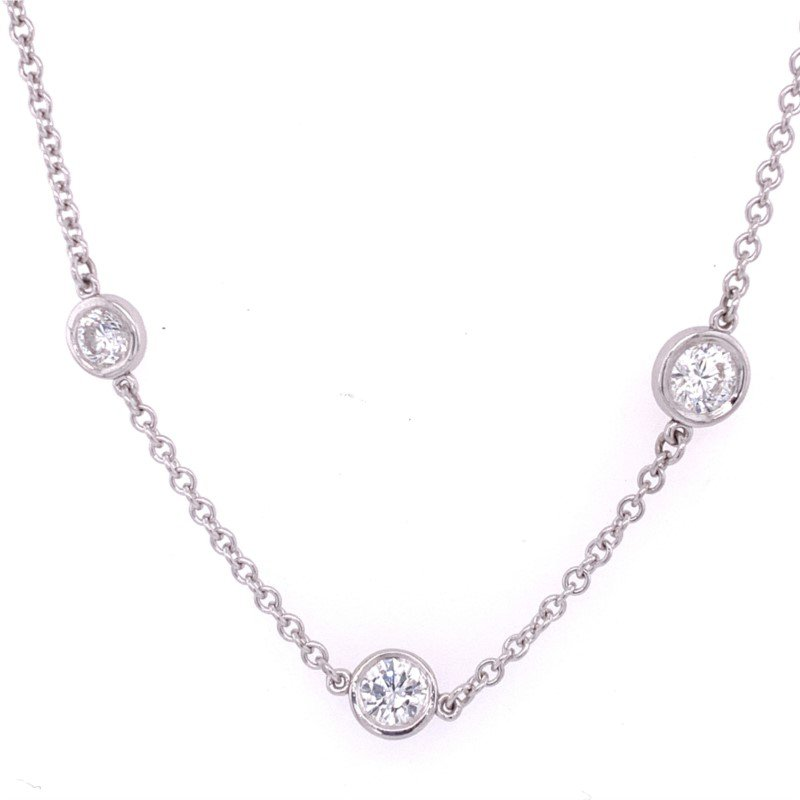Perry's Estate Collection 2.25 CTW Diamond Station Necklace in White Gold