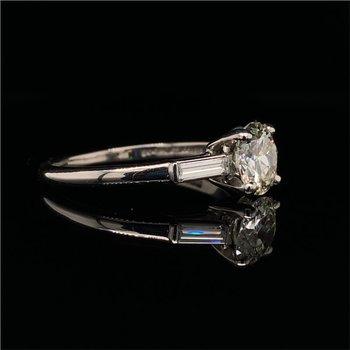 GIA 1.16 Carat Round Brilliant Cut Diamond Engagement Ring  in Platinum