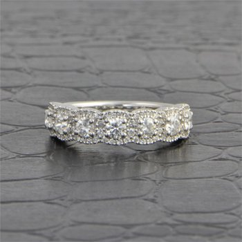 Seven Stone Diamond Wedding Band