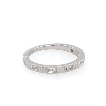 Baguette Cut Diamond Wedding Band in White Gold