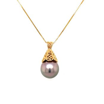 South Sea Pearl Pendant in Yellow Gold