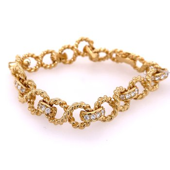 Rope Style Diamond Bracelet by Tiffany & Co. Circa 1994