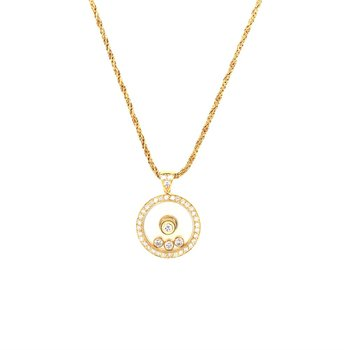 Chopard Happy Diamonds Round Pendant in 18K Gold