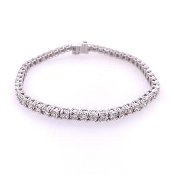 3.0 CTW Diamond Tennis Bracelet in White Gold