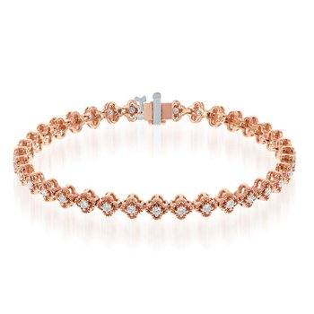 Diamond Bracelet in Rose Gold